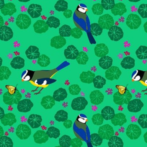 The Bird and Butterfly (green)