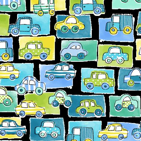 Groovy Cars fabric by cressida_carr on Spoonflower - custom fabric