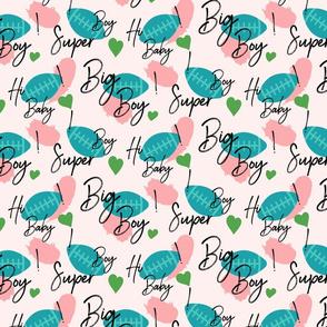 Boyish baby pattern