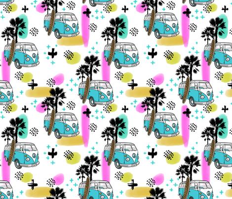 Summer Surf Kombi  fabric by colourcult on Spoonflower - custom fabric