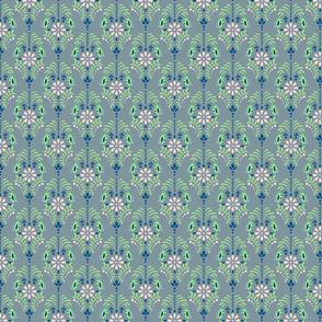 Damask green flowers