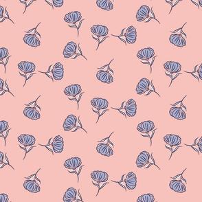 Simple blue flowers
