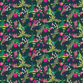 Green jungle pattern