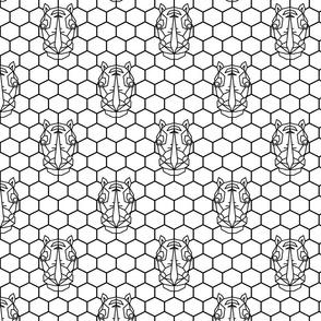 Rhinoceros geometric print