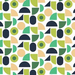 Geometry green shapes