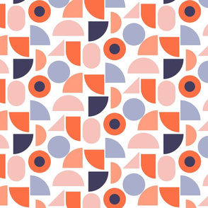 Abstract shapes pattern