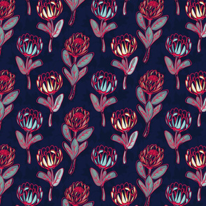 Protea deep purple