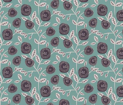 Vintage flowers fabric by yopixart on Spoonflower - custom fabric