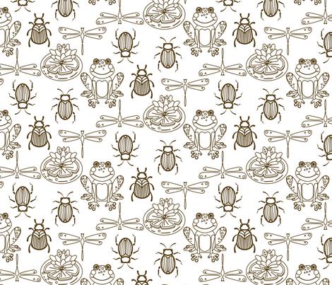 Cheerful frogs fabric by yopixart on Spoonflower - custom fabric