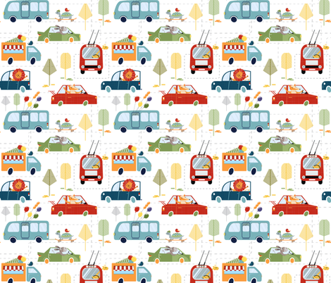 Happy escape from the ZOO fabric by avisnana on Spoonflower - custom fabric