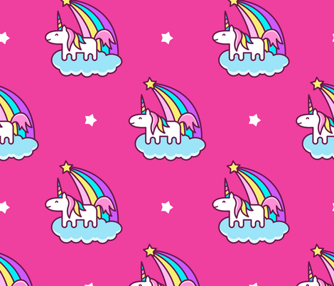 unicorns fabric by blackberry_jelly on Spoonflower - custom fabric