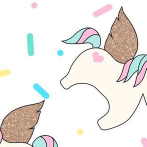 Unicorn Sprinkles White Large