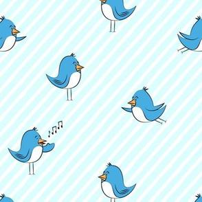 blue birds - blue