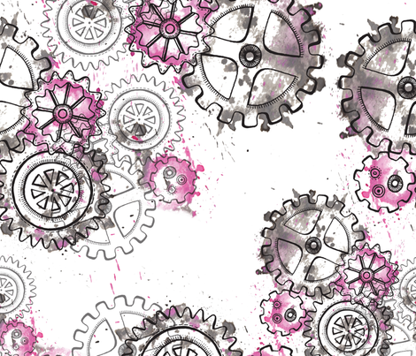 Cogs-In-Motion fabric by mini_mina on Spoonflower - custom fabric