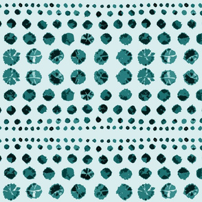 Shibori Abstract on Teal