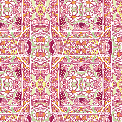 Circle Meets Square Over There fabric by edsel2084 on Spoonflower - custom fabric