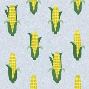 Corn vegetables vegan fabric summer foods grey
