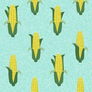 Corn vegetables vegan fabric summer foods green