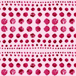 Shibori Abstract on Raspberry