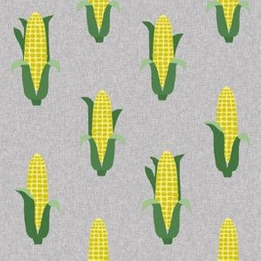 Corn vegetables vegan fabric summer foods grey