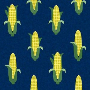 Corn vegetables vegan fabric summer foods blue