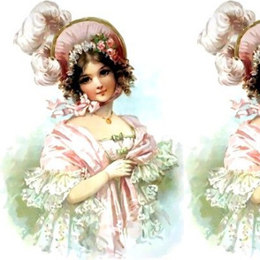 victorian pink bonnets hats feathers beautiful girls young woman lady flowers floral roses lace gowns 19th century shabby chicromantic beauty vintage antique elegant gothic lolita egl