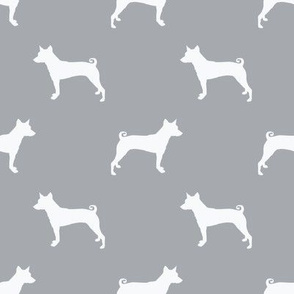 basenji  silhouette dog breed fabric grey