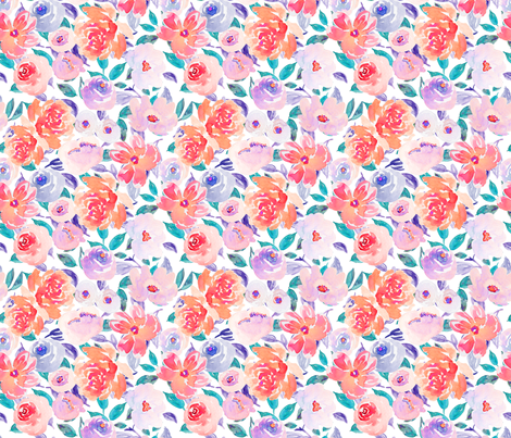 Indy Bloom Design Summer fling C fabric by indybloomdesign on Spoonflower - custom fabric