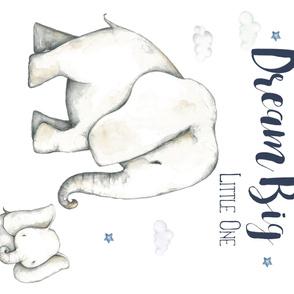 "54""x36"" Dream Big Blue Elephant Boys"