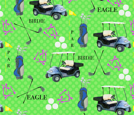 A Golfing we will Go fabric by lauriekentdesigns on Spoonflower - custom fabric