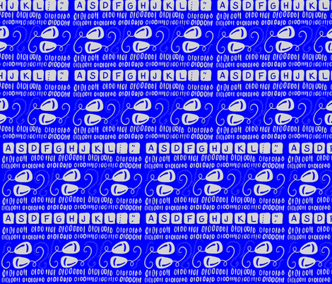 Blue Screen of Strength fabric by tracydb70 on Spoonflower - custom fabric