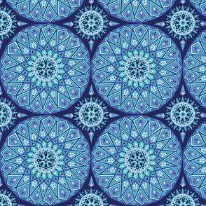 Blue decorative tile