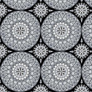 Grey decorative tile