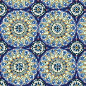 Decorative blue tile