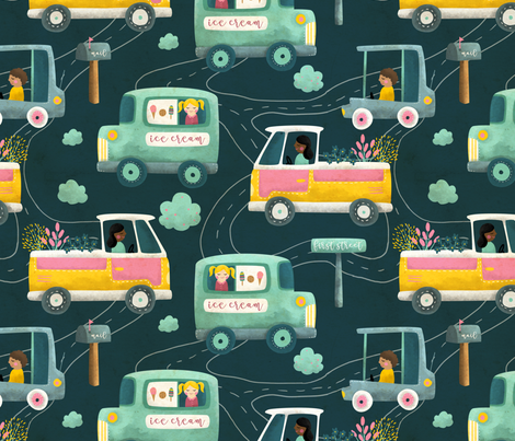 On the go fabric by littleknids on Spoonflower - custom fabric