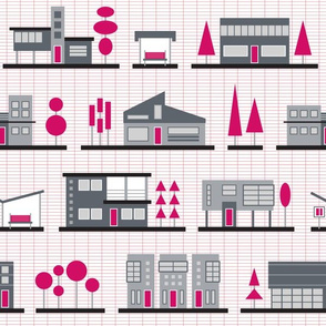 Modernist Neighborhood (Pink)
