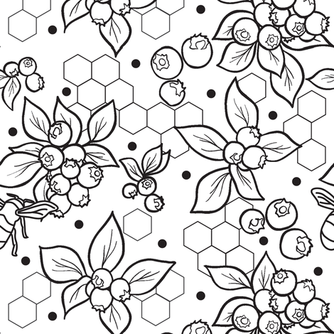 Blueberry Honey  fabric by nissalynn on Spoonflower - custom fabric