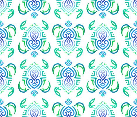 Tribal Turtle 3 fabric by artsytoocreations on Spoonflower - custom fabric
