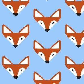 Triangle fox in blue