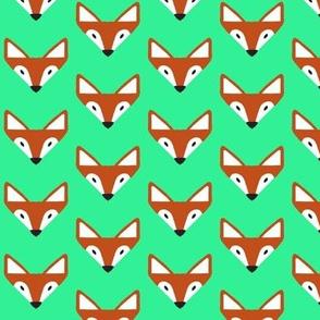 triangle fox in neon green smaller