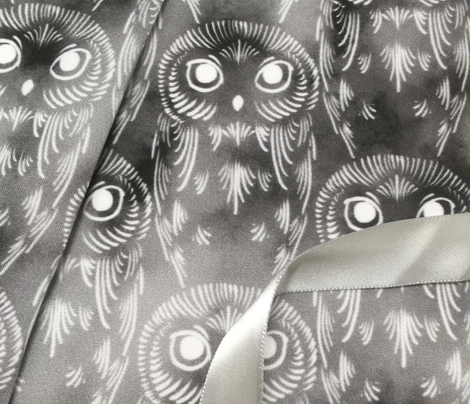 Watercolor Owls - Dark Clouds