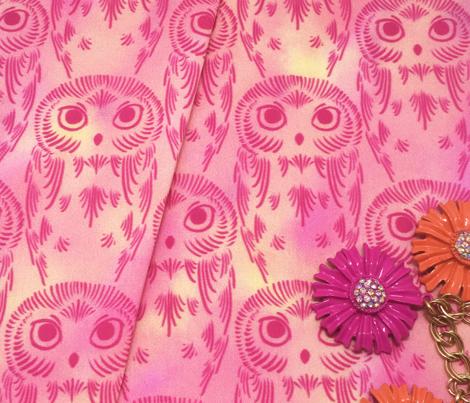 Watercolor Owls - Rose