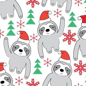sloths-with-santa-hats