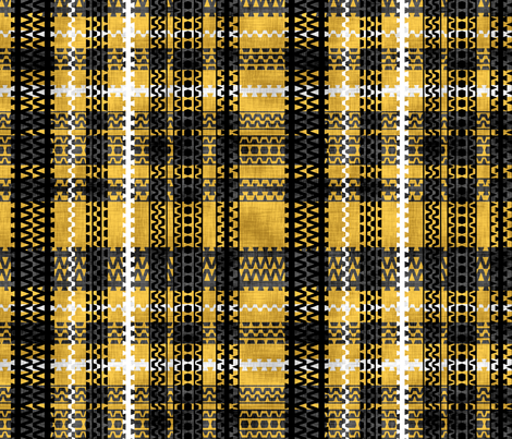 Tire Tread Tartan Canary fabric by pond_ripple on Spoonflower - custom fabric
