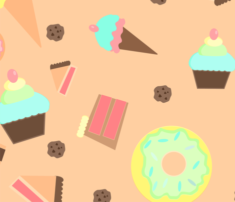 Sweet Dessert fabric by emerybyrne on Spoonflower - custom fabric