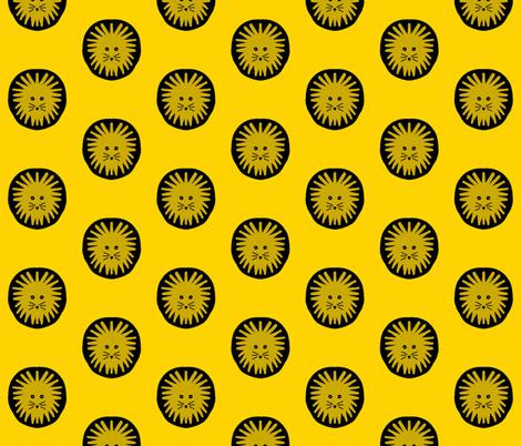 Lion pride yellow fabric by hejamieson on Spoonflower - custom fabric