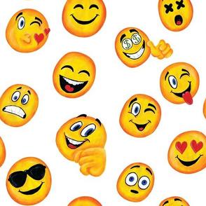 emojis on white