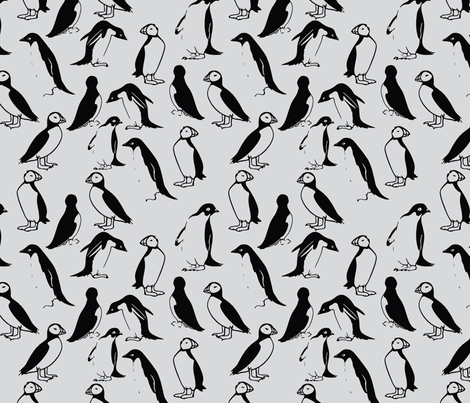 dirty-penguins fabric by aubreythestrawberry on Spoonflower - custom fabric