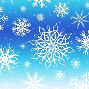 Ombré  Snowflakes