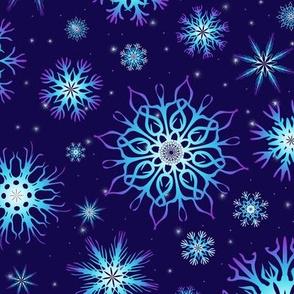 Snowflakes Night